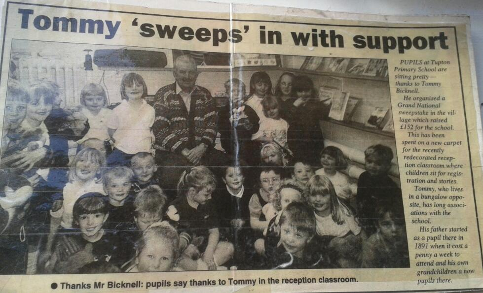 Tommy sweeps in with support - newspaper aticle